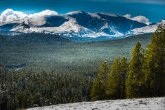 Bighorn Mountain Range Wyoming. Bighorn Loaf Darton Mountains Wyoming Winter stock photos