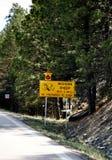 Bighorn-Schaf-Überfahrt sign2 Lizenzfreies Stockfoto