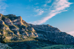 Bighorn Shadows | Bighorn National Forest, Wyoming, USA. The setting sun slices along the mountainous formations of Bighorn National Forest in Wyoming, USA Royalty Free Stock Images