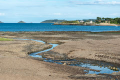 Bight of Beauport at low tide (France) Stock Photo