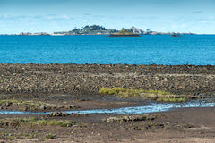 Bight of Beauport at low tide (France) Stock Image