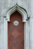 Bight red wooden door Stock Images