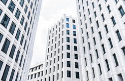Bright white modern futuristic business center Royalty Free Stock Image