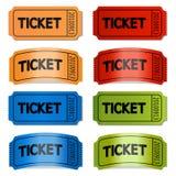 biglietti Fotografia Stock Libera da Diritti