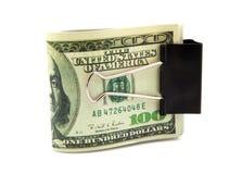 Biglietti cento dollari Fotografia Stock Libera da Diritti