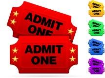Biglietti classici di film Immagini Stock