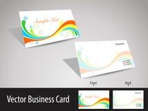 biglietti da visita di tema dell'onda di multicolors Fotografie Stock