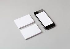 Biglietti da visita & Smart Phone Immagine Stock Libera da Diritti