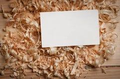 Biglietti da visita sui chip di legno Immagine Stock Libera da Diritti