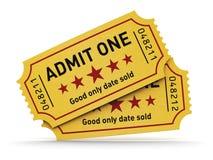 Biglietti del cinema Fotografia Stock
