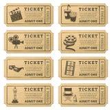 Biglietti del cinema di lerciume di vettore Fotografia Stock