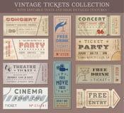 Biglietti del cinema di lerciume di vettore Immagine Stock Libera da Diritti