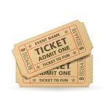 Biglietti del cinema di vettore Immagini Stock Libere da Diritti
