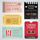 Biglietti del cinema messi Immagini Stock