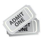 Biglietti del cinematografo isolati Fotografia Stock