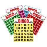 Biglietti del gioco di lotteria, progettazione di logo nel concetto di gioco Immagini Stock Libere da Diritti