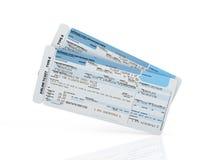 Biglietti del passaggio di imbarco di linea aerea Fotografie Stock