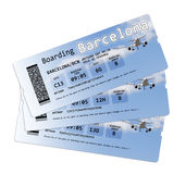 Biglietti del passaggio di imbarco di linea aerea Immagine Stock