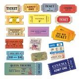 Biglietti dell'annata illustrazione di stock