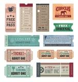 Biglietti dell'annata Fotografia Stock