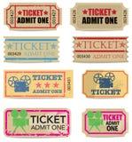 Biglietti dell'annata Immagine Stock