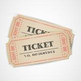 Biglietti dell'annata di vettore Fotografia Stock Libera da Diritti