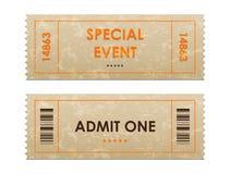 Biglietti dell'entrata Fotografia Stock