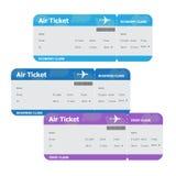 Biglietti di aria isolati su fondo bianco Fotografie Stock Libere da Diritti