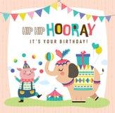 Biglietti di auguri per il compleanno illustrazione vettoriale
