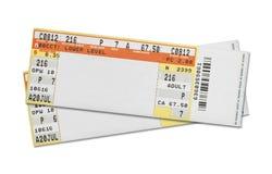 Biglietti di concerto immagini stock libere da diritti