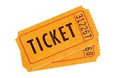 Biglietti di ingresso arancio Fotografia Stock Libera da Diritti