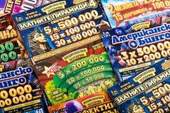 Biglietti di lotteria del graffio Immagine Stock