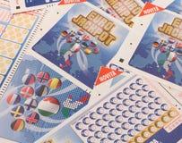 Biglietti di lotteria Enalotto eccellente Fotografia Stock Libera da Diritti