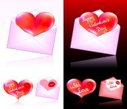 Biglietti di S. Valentino Fotografia Stock