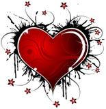 Biglietti di S. Valentino astratti disegno, vettore Immagini Stock Libere da Diritti