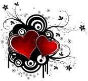 Biglietti di S. Valentino astratti priorità bassa, vettore illustrazione vettoriale