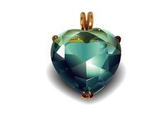 Biglietti di S. Valentino brillanti Diamond Hearts. Fotografie Stock