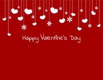Biglietti di S. Valentino cuore e fiocco di neve Fotografia Stock