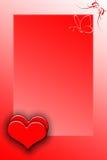 Biglietti di S. Valentino della struttura Immagine Stock