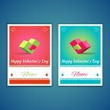 Biglietti di S. Valentino e cartoline 003 di sarchiatura Immagine Stock