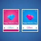 Biglietti di S. Valentino e cartoline 001 di sarchiatura Immagini Stock