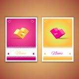 Biglietti di S. Valentino e cartoline 002 di sarchiatura Immagini Stock