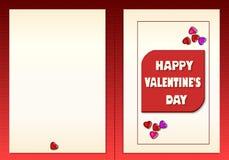 Biglietti di S. Valentino felici illustrazione di stock