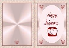 Biglietti di S. Valentino felici royalty illustrazione gratis