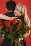 biglietti di S. Valentino felici di giorno immagine stock libera da diritti