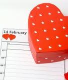 Biglietti di S. Valentino giorno 14 febbraio Immagine Stock Libera da Diritti