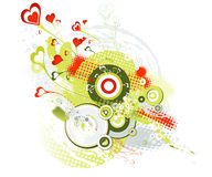 Biglietti di S. Valentino priorità bassa, vettore Immagini Stock Libere da Diritti