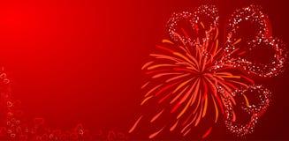 Biglietti di S. Valentino priorità bassa, vettore Fotografia Stock