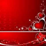 Biglietti di S. Valentino priorità bassa, vettore Fotografia Stock Libera da Diritti