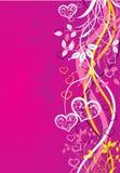 Biglietti di S. Valentino priorità bassa, vettore Immagine Stock